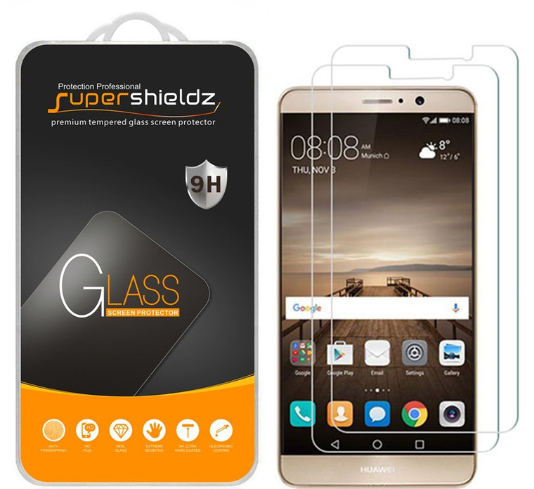 [2-Pack] Supershieldz for Huawei Mate 9 Tempered Glass Screen Protector, Anti-Scratch, Anti-Fingerprint, Bubble Free