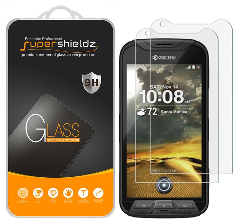 [2-Pack] Supershieldz for Kyocera DuraForce PRO Tempered Glass Screen Protector, Anti-Scratch, Anti-Fingerprint, Bubble Free