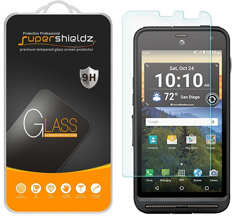 [2-Pack] Supershieldz for Kyocera DuraForce XD Tempered Glass Screen Protector, Anti-Scratch, Anti-Fingerprint, Bubble Free