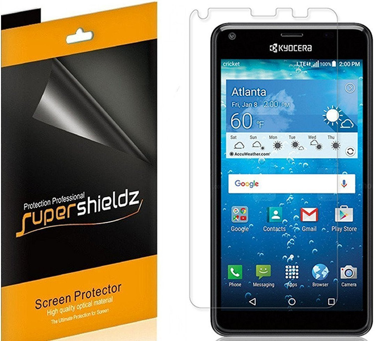 [2-Pack] Supershieldz for Kyocera Hydro Reach / Hydro View Tempered Glass Screen Protector, Anti-Scratch, Anti-Fingerprint, Bubble Free
