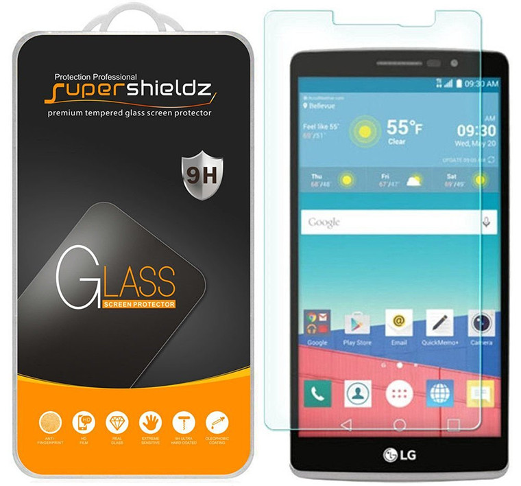 [2-Pack] Supershieldz for LG G Stylo Tempered Glass Screen Protector, Anti-Scratch, Anti-Fingerprint, Bubble Free
