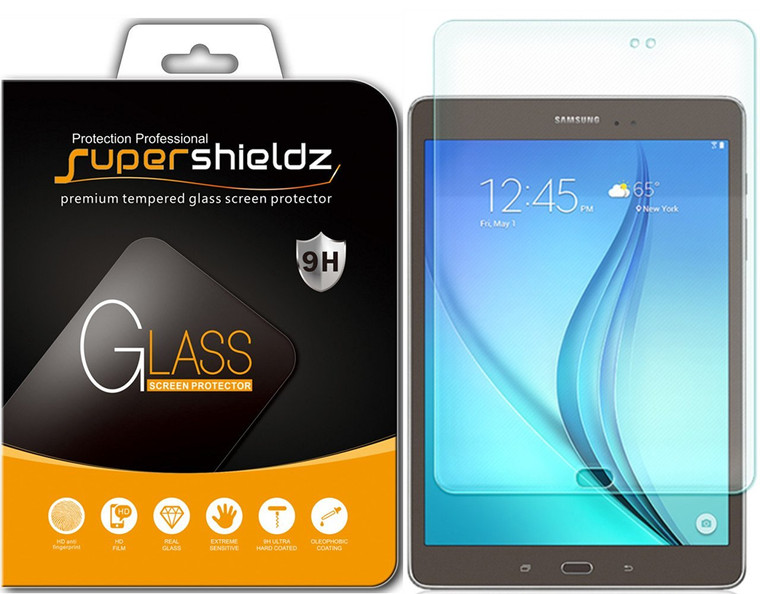 [1-Pack] Supershieldz for Samsung Galaxy Tab A 8.0 (SM-T350) Tempered Glass Screen Protector, Anti-Scratch, Anti-Fingerprint, Bubble Free