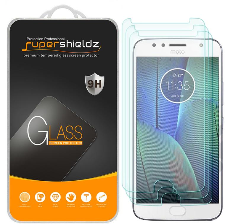 "[3-Pack] Supershieldz for Motorola ""Moto G5S Plus"" Tempered Glass Screen Protector, Anti-Scratch, Anti-Fingerprint, Bubble Free"
