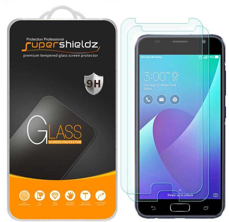 [2-Pack] Supershieldz for Asus ZenFone V (Verizon) Tempered Glass Screen Protector, Anti-Scratch, Anti-Fingerprint, Bubble Free