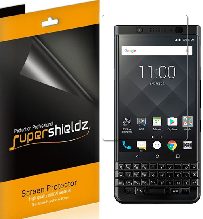 [2-Pack] Supershieldz for Blackberry Keyone [Full Screen Coverage] Anti-Bubble High Definition (HD) Clear Shield