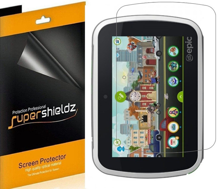 [3-Pack] Supershieldz for LeapFrog Epic 7 inch Tablet High Definition Clear Screen Protector