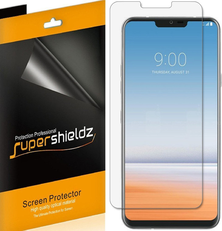 [6-Pack] Supershieldz for LG G7 ThinQ Screen Protector, Anti-Bubble High Definition (HD) Clear Shield