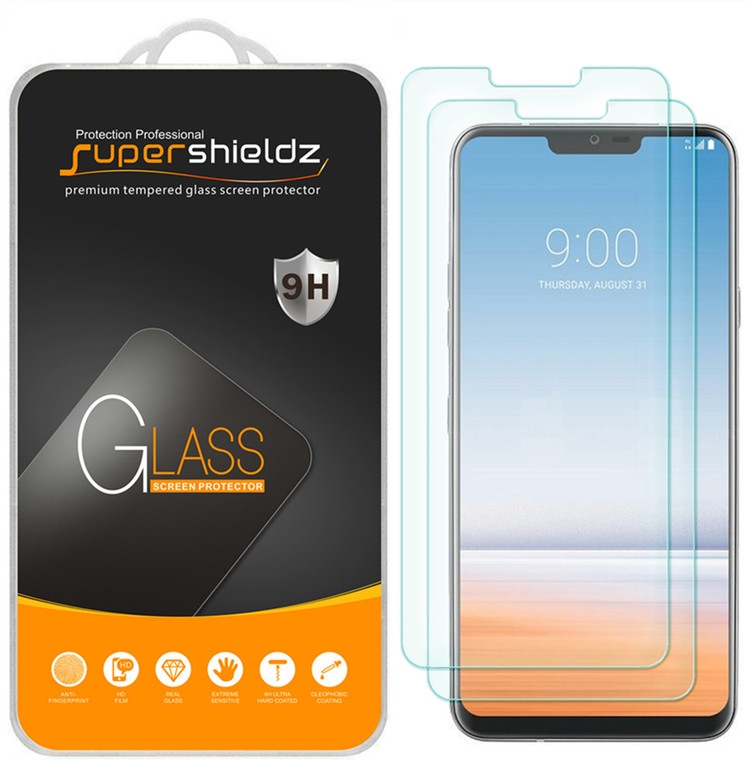 [2-Pack] Supershieldz for LG G7 ThinQ Tempered Glass Screen Protector, Anti-Scratch, Anti-Fingerprint, Bubble Free