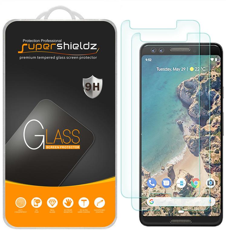 [2-Pack] Supershieldz for Google (Pixel 3) Tempered Glass Screen Protector, Anti-Scratch, Anti-Fingerprint, Bubble Free