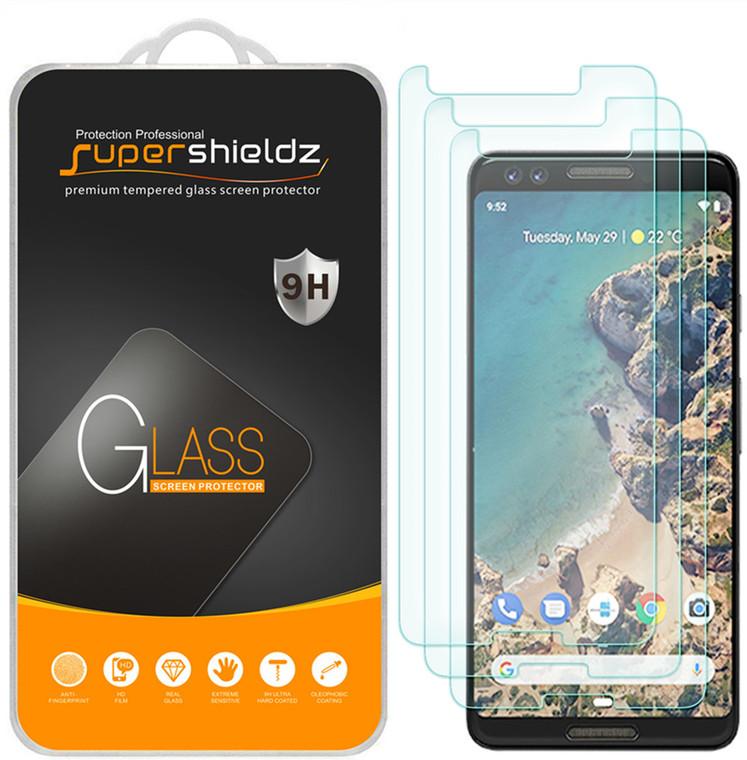 [3-Pack] Supershieldz for Google (Pixel 3) Tempered Glass Screen Protector, Anti-Scratch, Anti-Fingerprint, Bubble Free