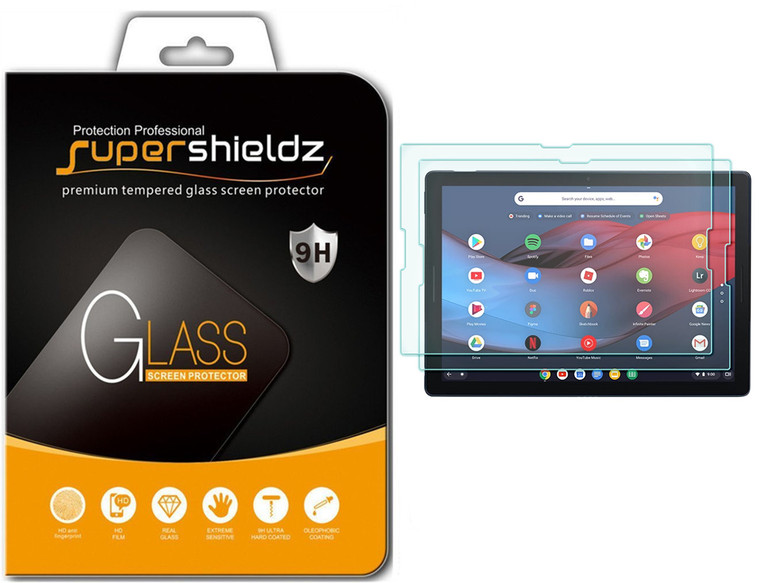 [2-Pack] Supershieldz for Google Pixel Slate Tempered Glass Screen Protector, Anti-Scratch, Anti-Fingerprint, Bubble Free