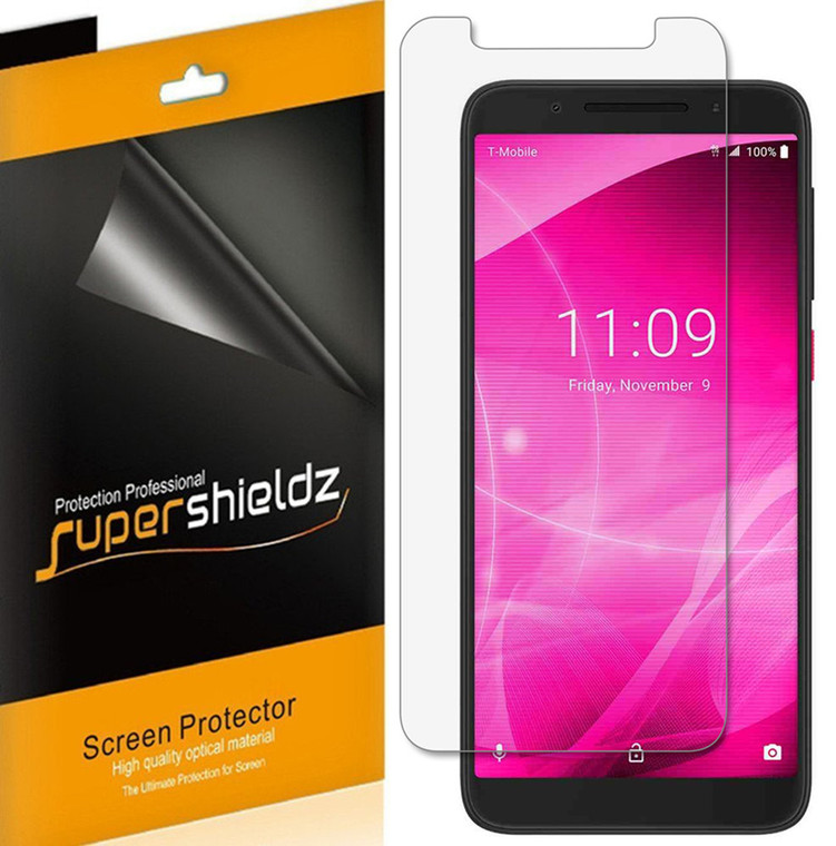 [6-Pack] Supershieldz for T-Mobile (Revvl 2) Screen Protector, Anti-Bubble High Definition (HD) Clear Shield
