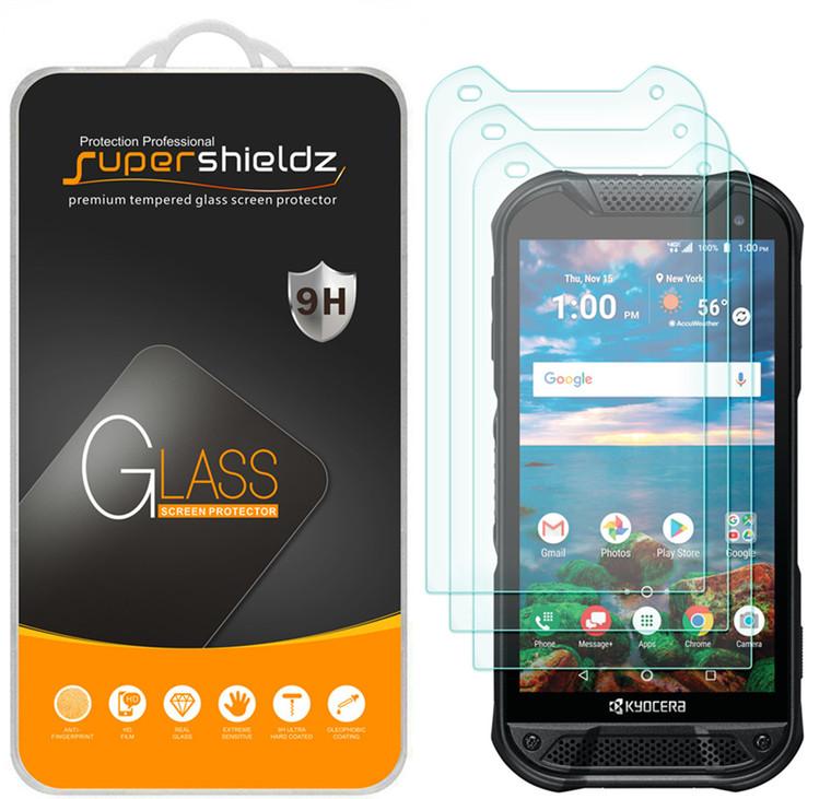 [3-Pack] Supershieldz for Kyocera DuraForce Pro 2 Tempered Glass Screen Protector, Anti-Scratch, Anti-Fingerprint, Bubble Free