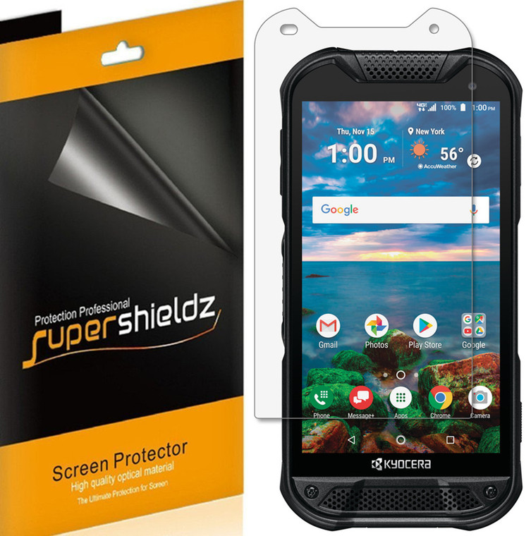 [6-Pack] Supershieldz for Kyocera DuraForce Pro 2 Screen Protector, Anti-Bubble High Definition (HD) Clear Shield