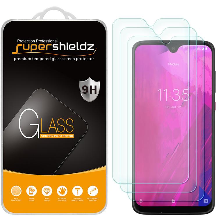 [3-Pack] Supershieldz for Motorola Moto G7 Tempered Glass Screen Protector, Anti-Scratch, Anti-Fingerprint, Bubble Free