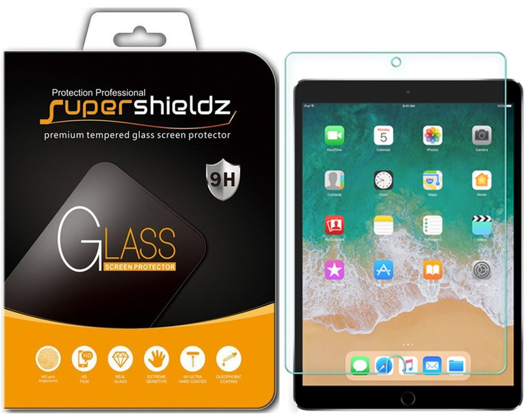 [2-Pack] Supershieldz for Apple iPad Air 10.5 inch (2019) inch Tempered Glass Screen Protector, Anti-Scratch, Anti-Fingerprint, Bubble Free