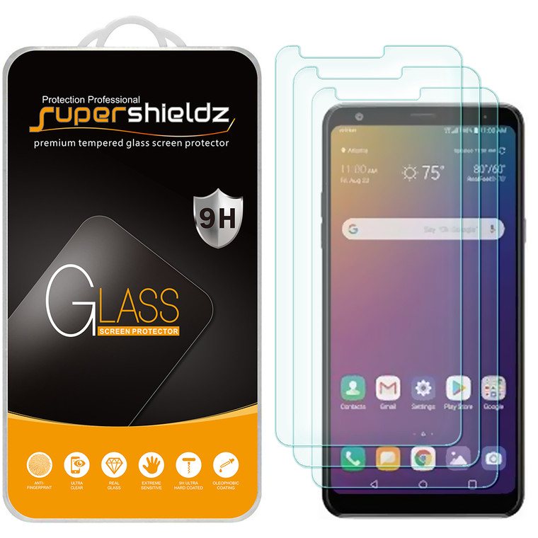 [3-Pack] Supershieldz for LG Stylo 5 / Stylo 5X / Stylo 5 Plus Tempered Glass Screen Protector, Anti-Scratch, Anti-Fingerprint, Bubble Free