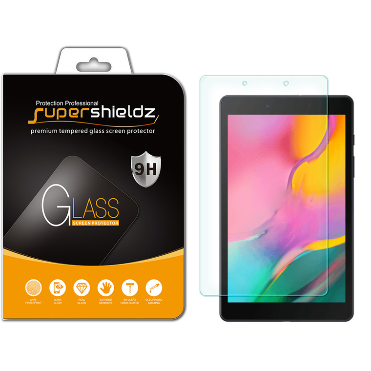 [1-Pack] Supershieldz for Samsung Galaxy Tab A 8.0 (2019) (SM-T290) Tempered Glass Screen Protector, Anti-Scratch, Anti-Fingerprint, Bubble Free