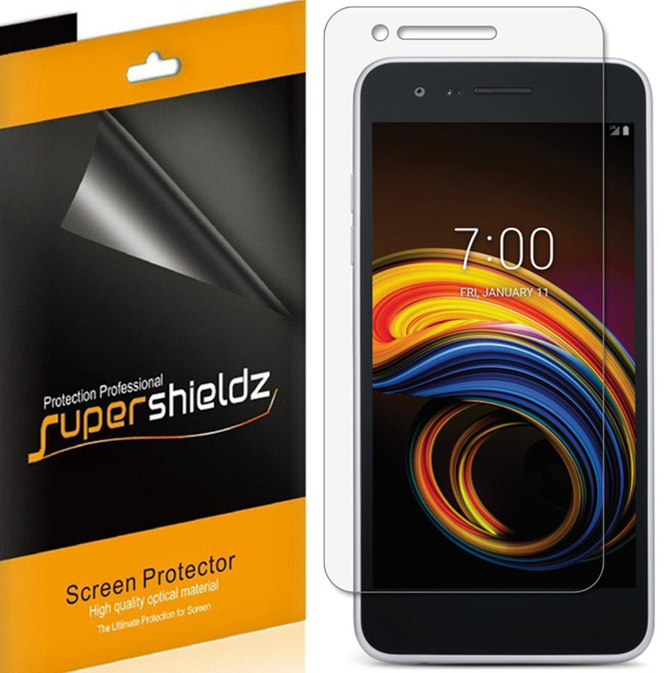 [6-Pack] Supershieldz for LG Aristo 3 Plus Screen Protector, Anti-Bubble High Definition (HD) Clear Shield