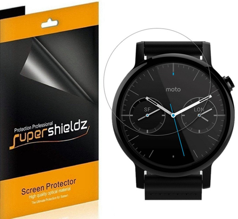 [6-Pack] Supershieldz for Skagen Falster 2 Screen Protector, Anti-Bubble High Definition (HD) Clear Shield