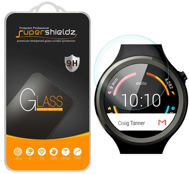 [2-Pack] Supershieldz for Skagen Falster 2 Tempered Glass Screen Protector, Anti-Scratch, Anti-Fingerprint, Bubble Free
