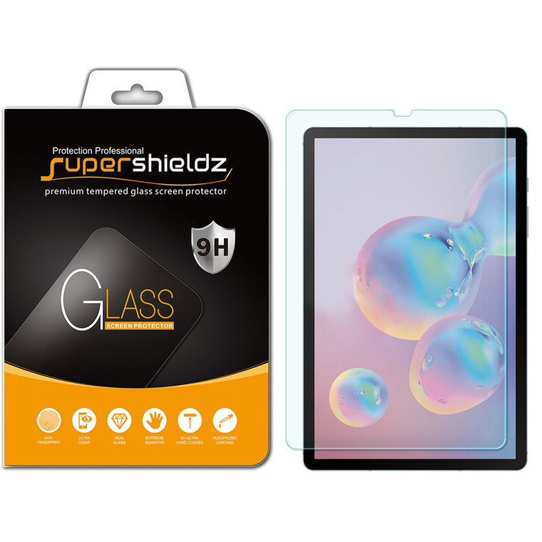 [1-Pack] Supershieldz for Samsung Galaxy Tab S6 (10.5 inch) Tempered Glass Screen Protector, Anti-Scratch, Anti-Fingerprint, Bubble Free