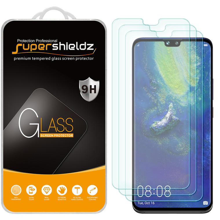 [3-Pack] Supershieldz for Huawei Mate 30 Tempered Glass Screen Protector, Anti-Scratch, Anti-Fingerprint, Bubble Free