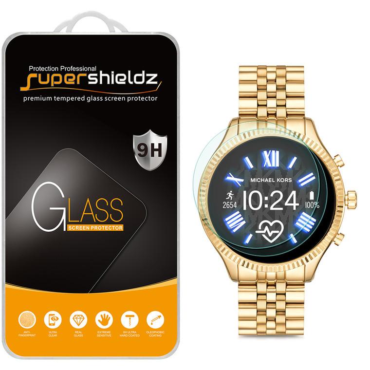 [2-Pack] Supershieldz for Fossil Gen 5 Smartwatch Julianna HR Tempered Glass Screen Protector, Anti-Scratch, Anti-Fingerprint, Bubble Free