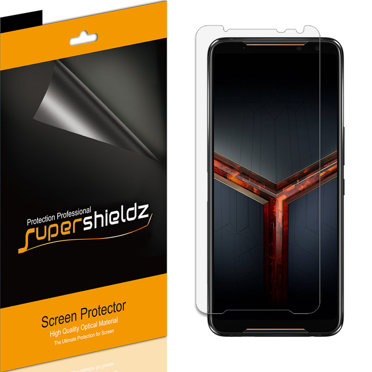 [6-Pack] Supershieldz for Asus ROG Phone 2 / ROG Phone II (ZS660KL) Screen Protector, Anti-Bubble High Definition (HD) Clear Shield