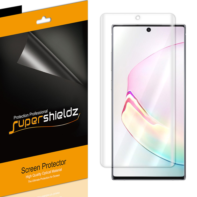 [2-Pack] Supershieldz for Samsung Galaxy Note 10 Plus / Note10+ Screen Protector, Anti-Bubble High Definition (HD) Clear Shield
