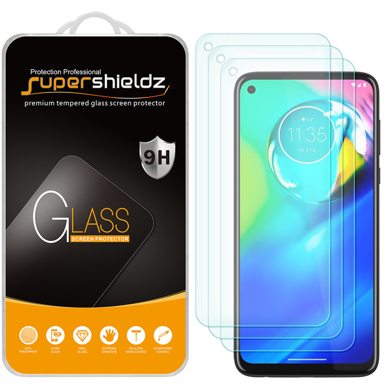 [3-Pack] Supershieldz for Motorola Moto G Power Tempered Glass Screen Protector, Anti-Scratch, Anti-Fingerprint, Bubble Free