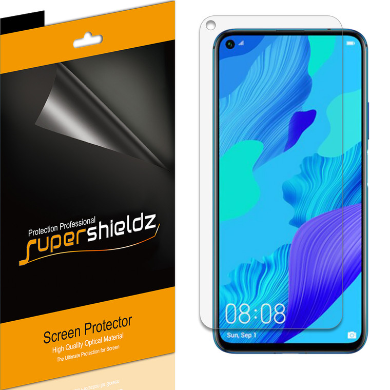 [6-Pack] Supershieldz for Huawei (Mate 30 Lite) Screen Protector, Anti-Bubble High Definition (HD) Clear Shield