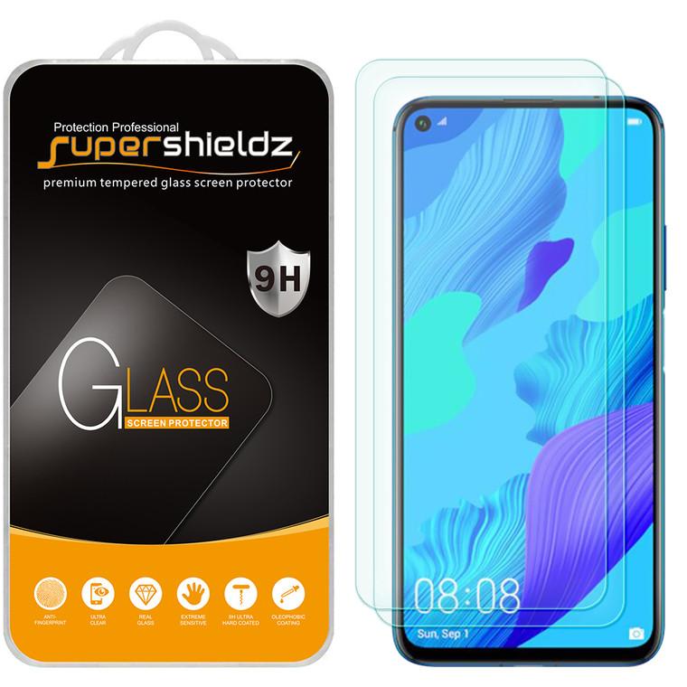 [2-Pack] Supershieldz for Huawei (Mate 30 Lite) Tempered Glass Screen Protector, Anti-Scratch, Anti-Fingerprint, Bubble Free