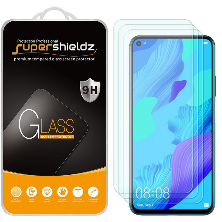 [3-Pack] Supershieldz for Huawei Nova 5i Pro / Nova 5Z Tempered Glass Screen Protector, Anti-Scratch, Anti-Fingerprint, Bubble Free