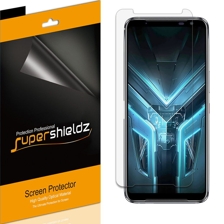 [6-Pack] Supershieldz for Asus (ROG Phone 3) Screen Protector, Anti-Bubble High Definition (HD) Clear Shield
