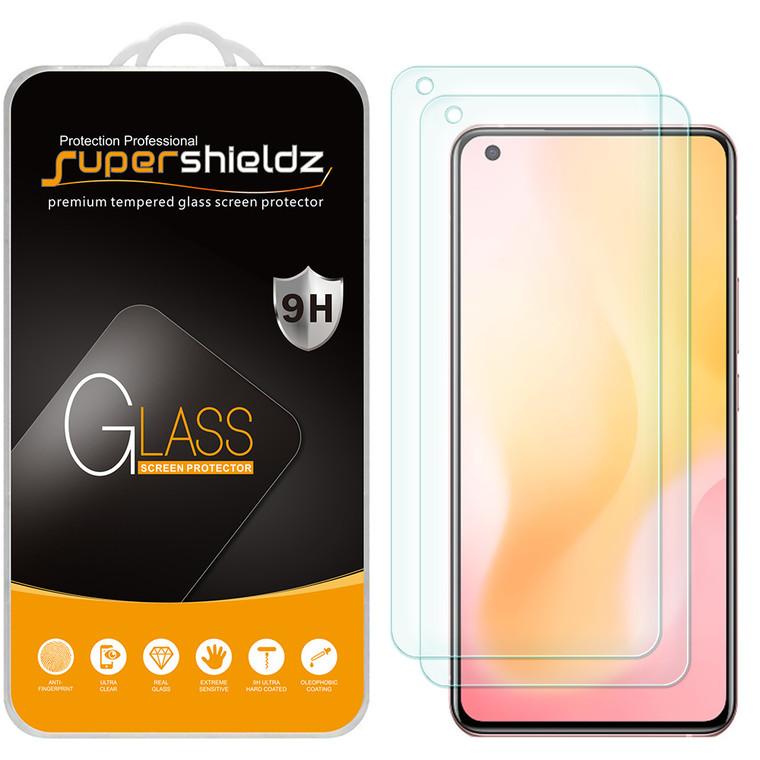 [2-Pack] Supershieldz for Vivo X50 Tempered Glass Screen Protector, Anti-Scratch, Anti-Fingerprint, Bubble Free