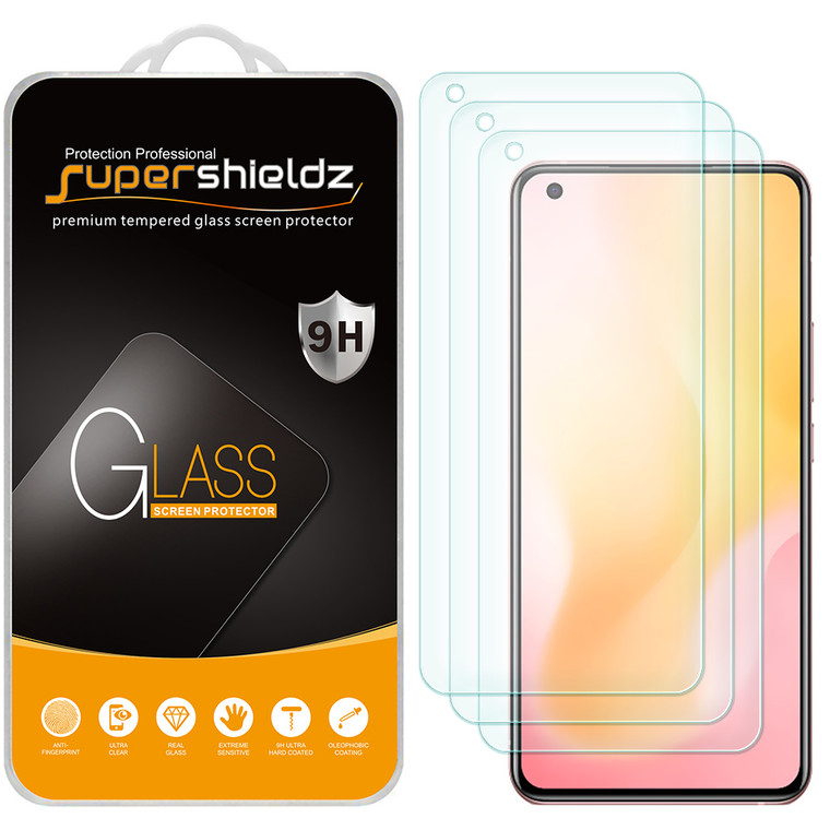 [3-Pack] Supershieldz for Vivo X50 Tempered Glass Screen Protector, Anti-Scratch, Anti-Fingerprint, Bubble Free