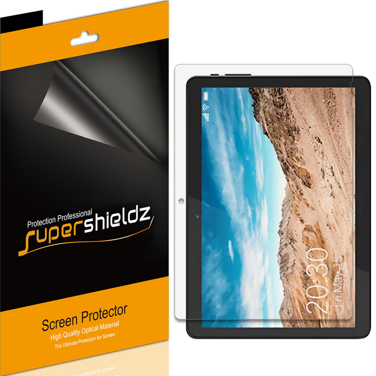 [3-Pack] Supershieldz for Linsay 10.1 inch Tablet (F10XIPS) Screen Protector, Anti-Bubble High Definition (HD) Clear Shield