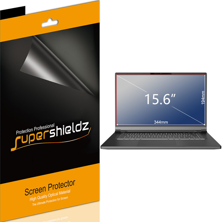[3-Pack] Supershieldz for Universal 15.6 inch with 16:9 Aspect Ratio Laptop Screen Protector, (344mm x 194mm), Anti-Bubble High Definition (HD) Clear Shield