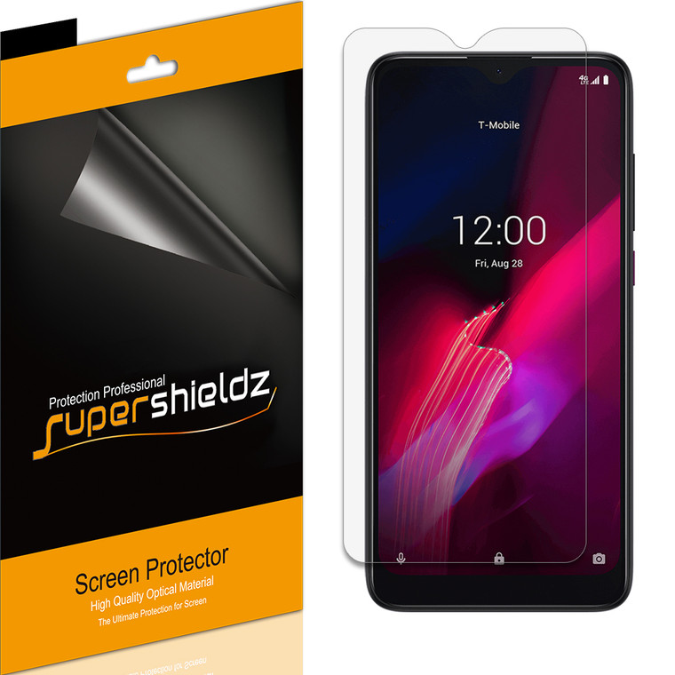 [6-Pack] Supershieldz for T-Mobile Revvl 4 Screen Protector, Anti-Bubble High Definition (HD) Clear Shield