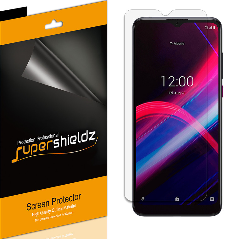 [6-Pack] Supershieldz for T-Mobile Revvl 4 Plus Screen Protector, Anti-Bubble High Definition (HD) Clear Shield