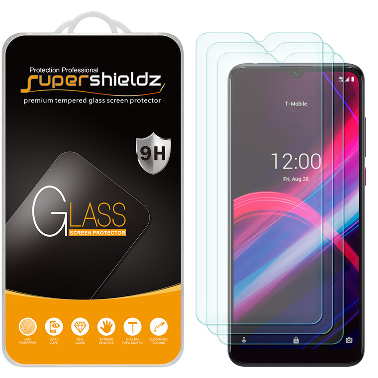 [3-Pack] Supershieldz for T-Mobile Revvl 4 Plus Tempered Glass Screen Protector, Anti-Scratch, Anti-Fingerprint, Bubble Free