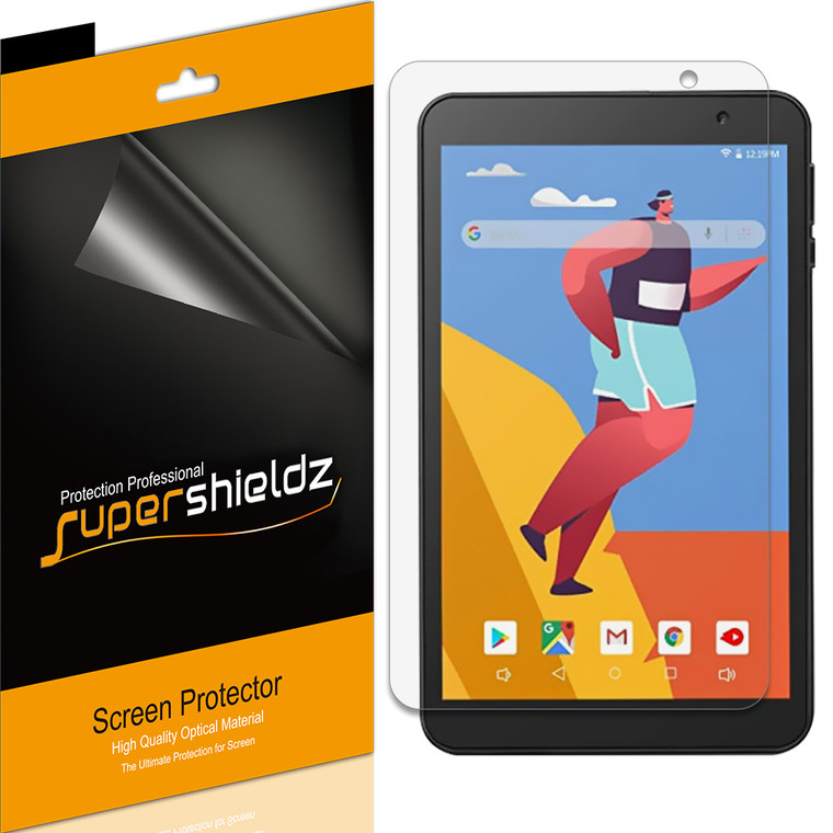 [3-Pack] Supershieldz for Gateway 8 inch Tablet Screen Protector, Anti-Bubble High Definition (HD) Clear Shield