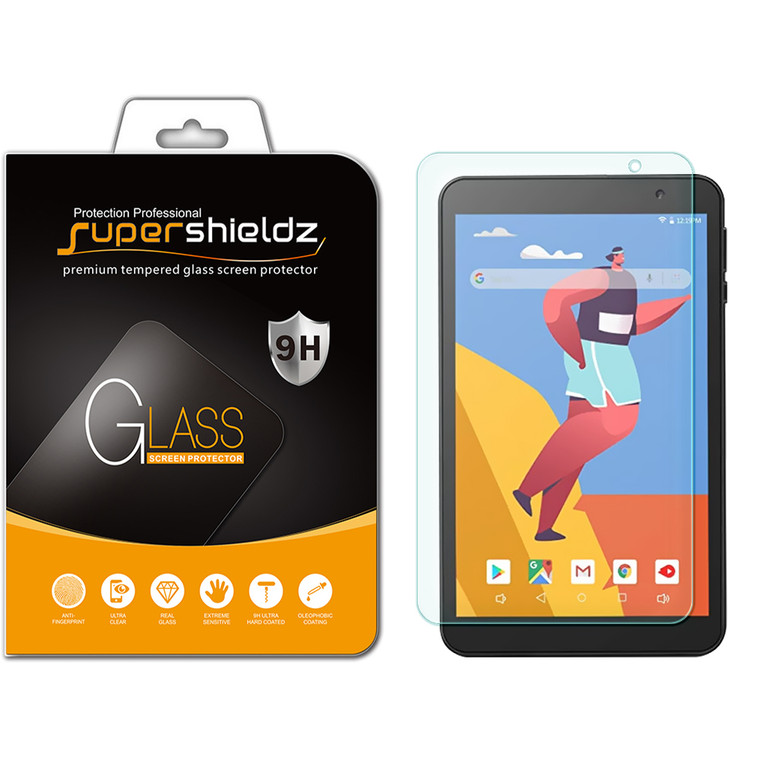 [1-Pack] Supershieldz for Gateway 8 inch Tablet Tempered Glass Screen Protector, Anti-Scratch, Anti-Fingerprint, Bubble Free