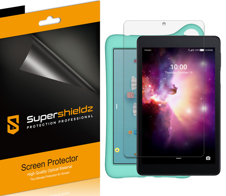 [3-Pack] Supershieldz for TCL Tab 8 inch / TCL Tab Family Edition 8 inch Tablet Screen Protector, Anti-Bubble High Definition (HD) Clear Shield