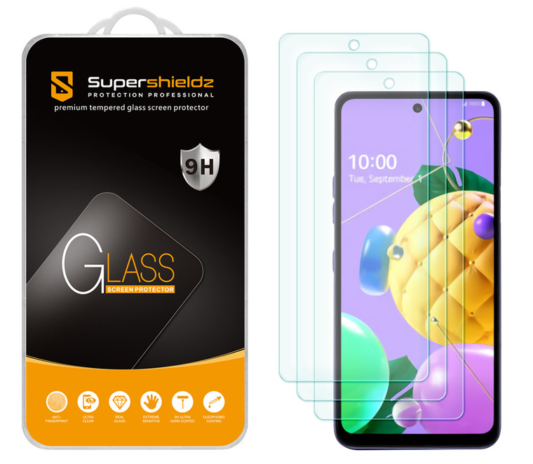 [3-Pack] Supershieldz for LG Stylo 7 / Stylo 7 5G Tempered Glass Screen Protector, Anti-Scratch, Anti-Fingerprint, Bubble Free