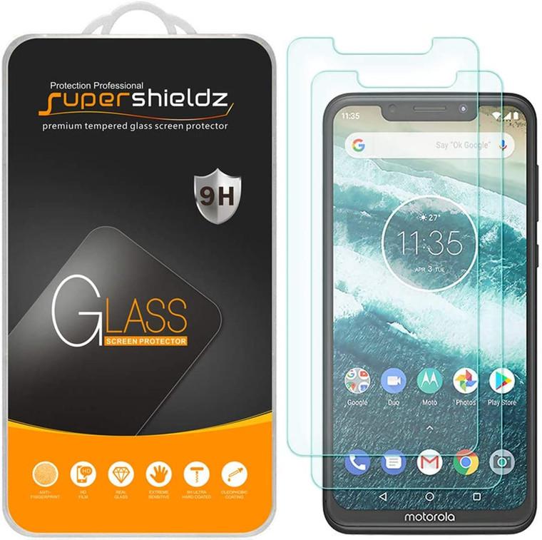 100x Supershieldz for Motorola Moto One (XT1941) Tempered Glass Screen Protector, Anti-Scratch, Anti-Fingerprint, Bubble Free (No Retail Packaging)