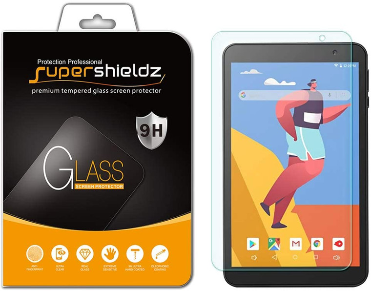 4888x Supershieldz for Vankyo MatrixPad S8 (8 inch) Tempered Glass Screen Protector, Anti-Scratch, Anti-Fingerprint, Bubble Free (No Retail Packaging)