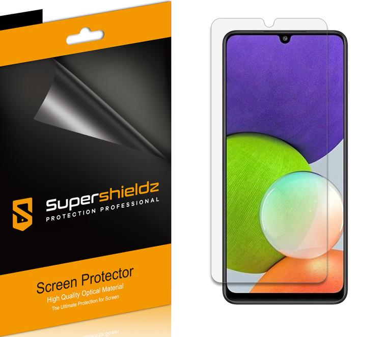 [6-Pack] Supershieldz for Samsung Galaxy F22 Screen Protector, Anti-Bubble High Definition (HD) Clear Shield