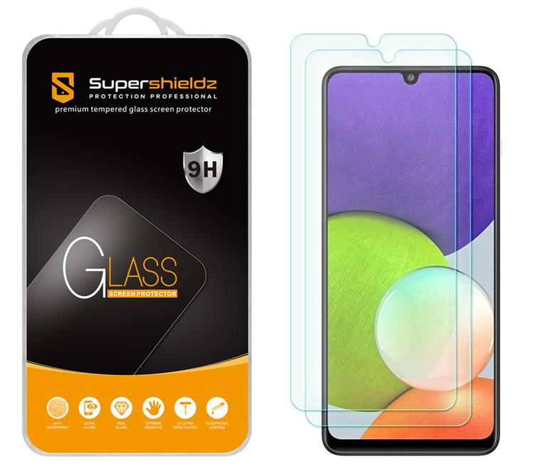 [2-Pack] Supershieldz for Samsung Galaxy F22 Tempered Glass Screen Protector, Anti-Scratch, Anti-Fingerprint, Bubble Free